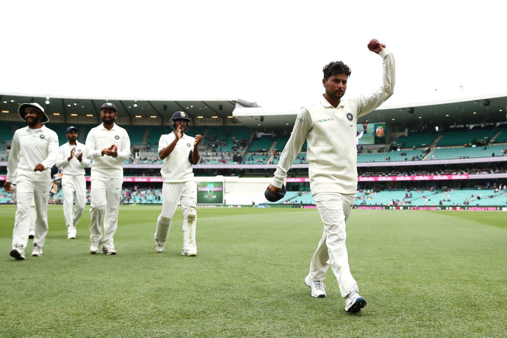 Kuldeep five-for pushes Aus to the brink