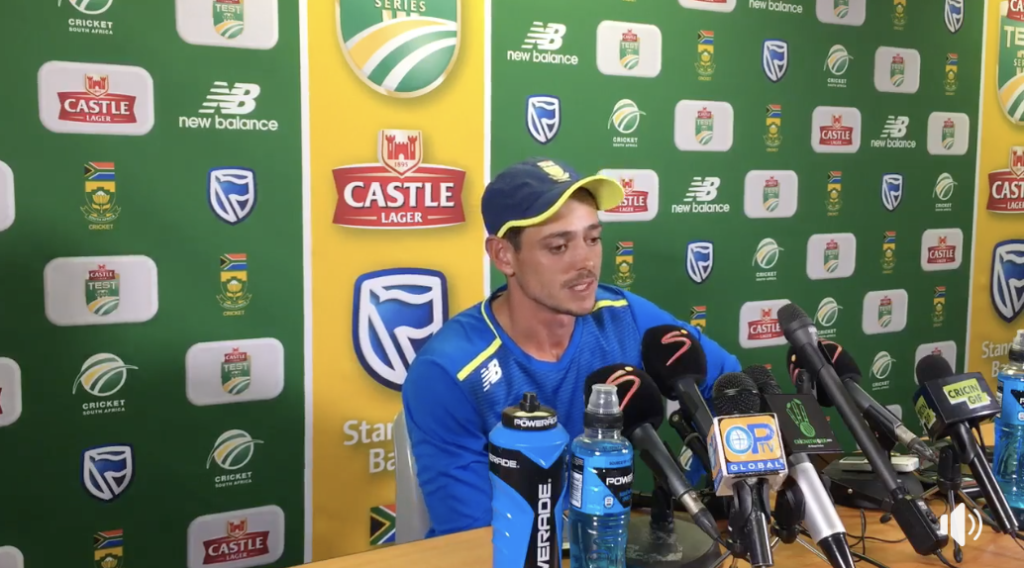 Batting with the tail is an art - Quinton de Kock