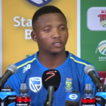 Qeshile's first Proteas press conference