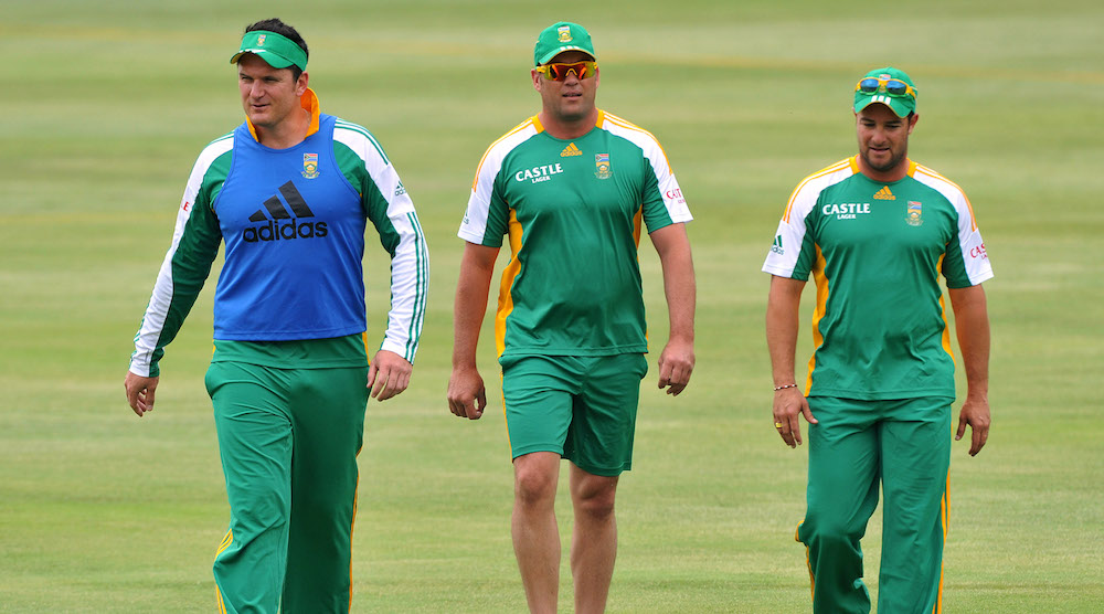 Graeme Smith, Jacques Kallis and Mark Boucher