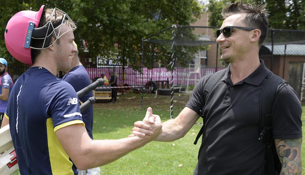 AB delighted with Steyn reunion