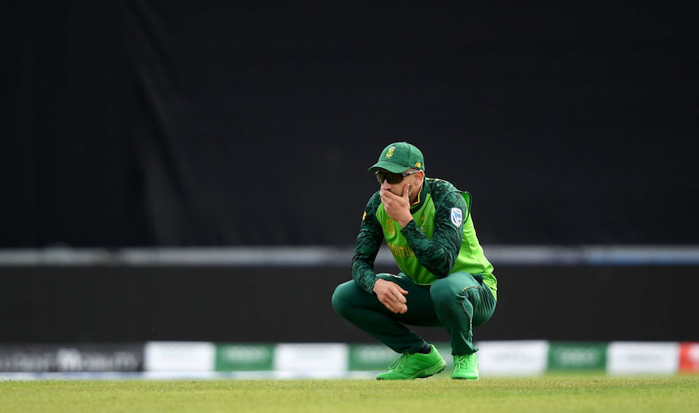 Du Plessis embarrassed after World Cup exit