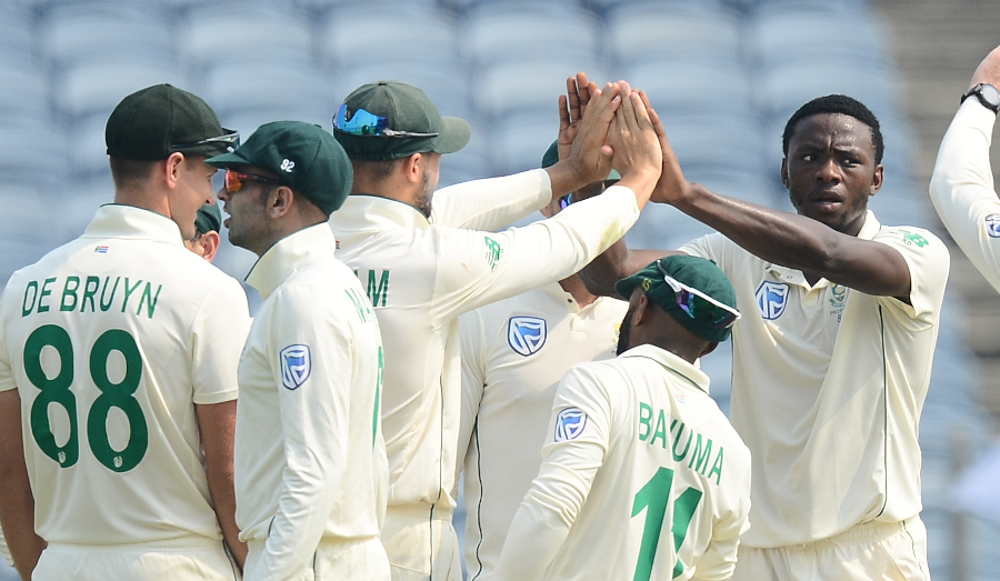 One breakthrough before lunch for SA