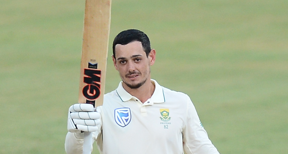 De Kock, Elgar punch back with centuries
