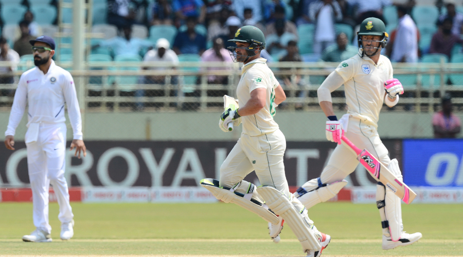 Test bests for Du Plessis, Elgar in India