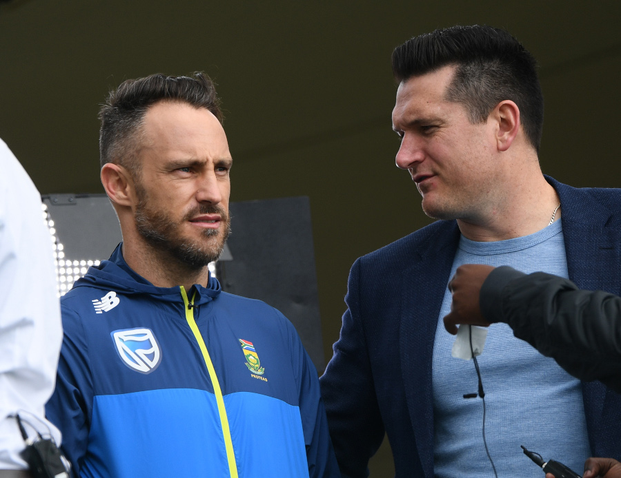 Faf du Plessis and Graeme Smith