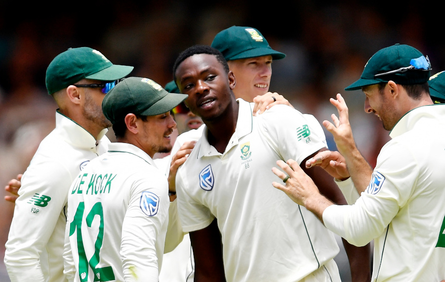 Rabada banned for Wanderers Test after Root celebration
