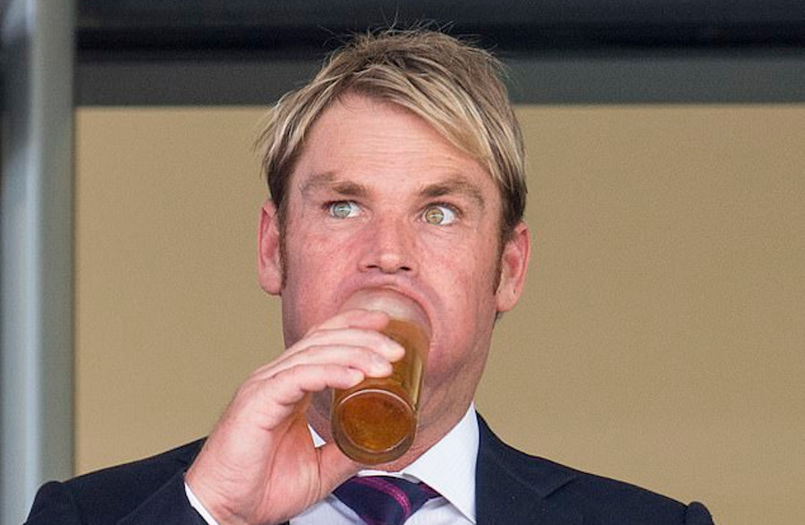 From gin to hand sanitiser for Warne