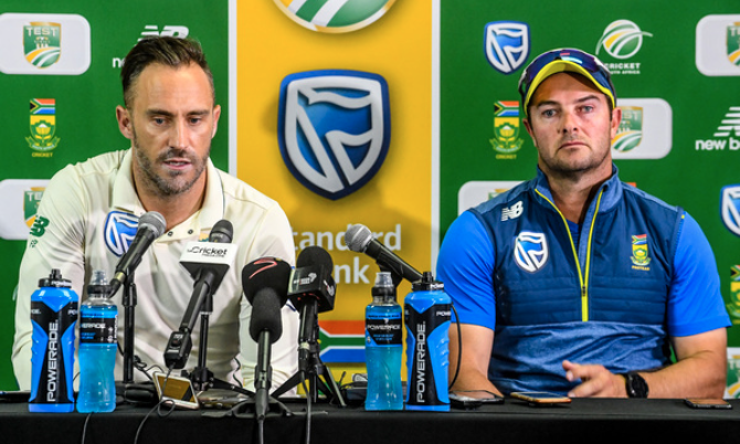 Faf du Plessis and Mark Boucher