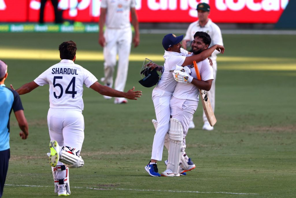 In Pictures: India celebrate memorable win