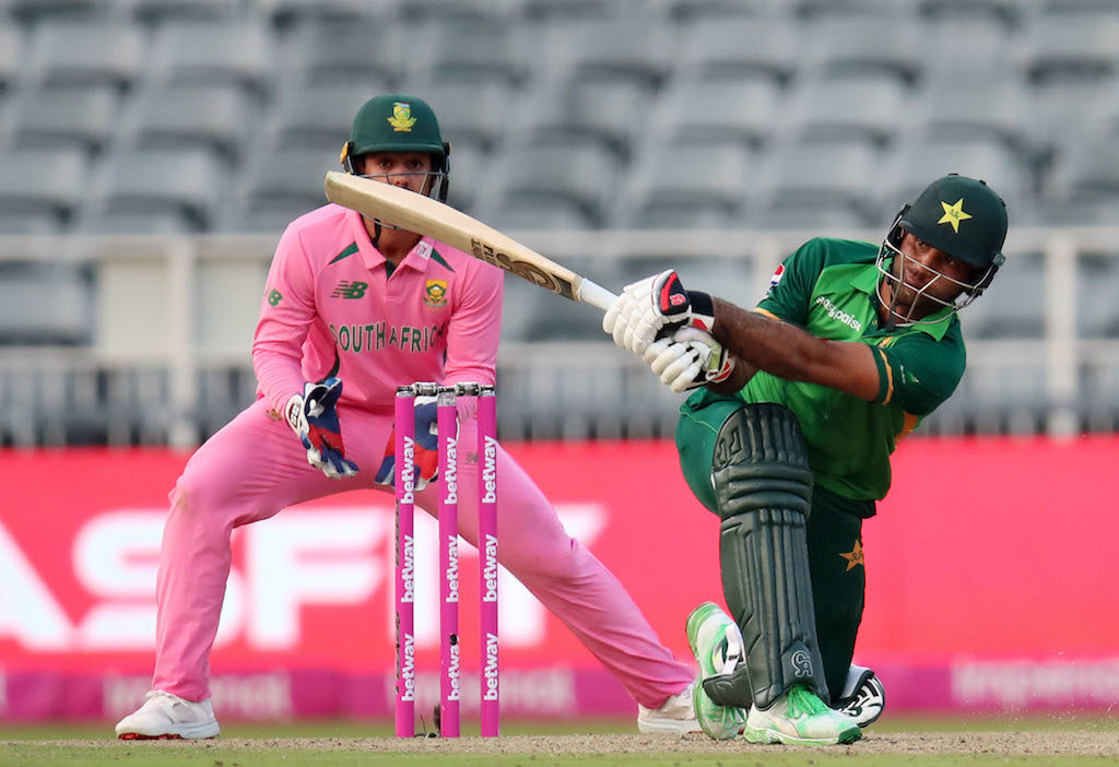 Fakhar Zaman in action