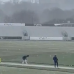 Watch: Durham players train in the snow