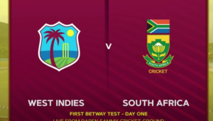 South Africa vs Windies day 1