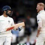 LONDON, ENGLAND - SEPTEMBER 08: Ben Stokes of England speaks with India captain Virat Kohli during day two of the Specsavers 5th Test match between England and India at The Kia Oval on September 8, 2018 in London, England. (Photo by Gareth Copley/Getty Images)