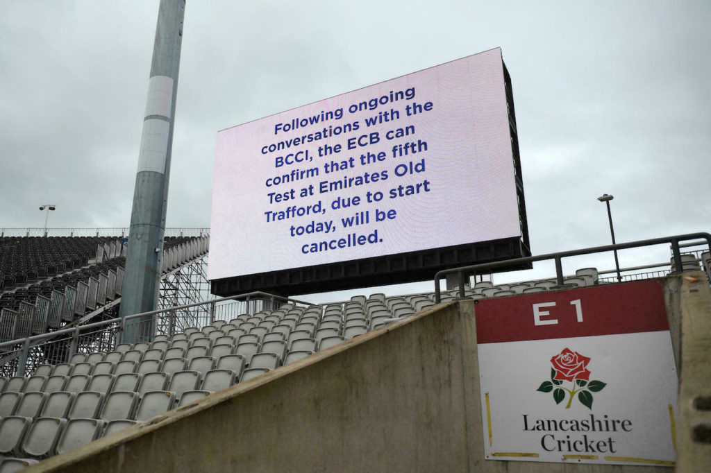 England India cancelled Test